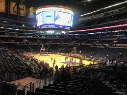 La Lakers Staples Center Seating Chart Staples Center Section 117 Clippers Lakers Rateyourseats Com