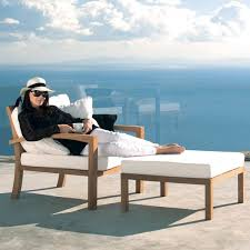 Outdoor Teak Lounge Chair Contemporary Patio Chicago by