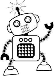 Small Picture Robot Coloring Page Robots Coloring Pages Free Coloring Pages