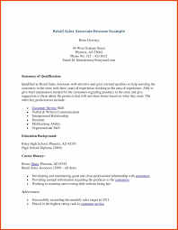 Resume For Sales Associate Sop Format Example