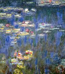 water lilies painting claude monet water lilies art print