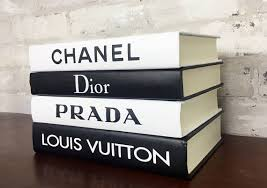 Designer Books Decor 100 BOOKS Black White Designer Book Set Chanel Louis 4