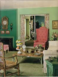Pink And Green Living Room 10 Color Schemes From 1968 Magazine Pictures Side Tables And