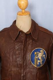vtg wwii a 2 rough wear 379th squadron horsehide leather flight jacket