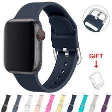 Dây Đeo Silicone Thoáng Khí Cho Đồng Hồ Thông Minh Apple Watch Series 6 / 5  / 4 / 3 / 2 / 1 / Se 38mm 40mm 42mm 44mm chính hãng 99,000đ
