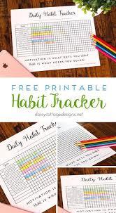 Daily Goal Tracker Daily Habit Tracker A Printable Goal Tracker Take Care