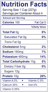 0 fat smooth creamy plain nutrition facts