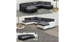 Wohnlandschaft Sofa Couch Garnitur U Form Rocky Möbel Wurm