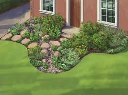 Small Picture Landscape Plan Water Wise Garden HGTV