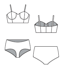 Bra Patterns Free Stunning Stretch Bra And Panty Set Sewing Patterns BurdaStyle