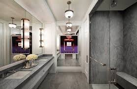 View in gallery Modern art deco bathroom with a fashion flair
