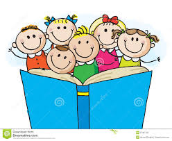 1300x1065 group of kids reading clipart