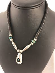 1 of 12only 1 available native american sterling silver ithaca turquoise necklace shadow