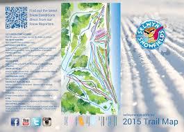 Tri Fold Trail Map For Selwyn Snowfields On Behance