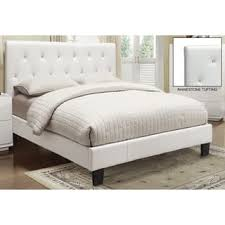 white faux leather bed. Unique Leather KRYSTAL FAUX LEATHER PLATFORM BED Inside White Faux Leather Bed