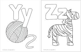 Alphabet Coloring Pages Printable Alphabet Coloring Pages For