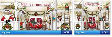 Garage Door Christmas Decorations Christmas Garage Door Mural ...