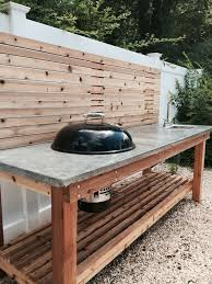 schön concrete countertops outdoor kitchen charcoal grill