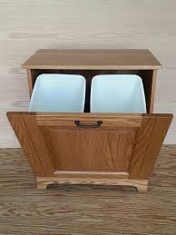 wood kitchen furniture. wooden kitchen trash cans double tilt out bin wood furniture