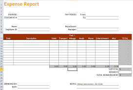 Expense Excel Template Expense Report Excel Templates Apcc2017