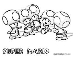 Special Mario Luigi And Toad Coloring Pages Super Bros Page Free