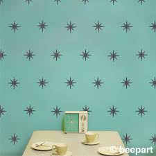 wallpaper choice small midcentury dining