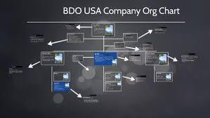 Bdo Usa Company Org Chart By Elexxus Welch On Prezi
