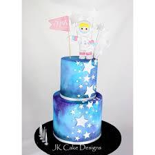 Space Birthday Cake Designs Astronaut Girl Space Cake Jk Cake Designs