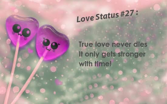 status for whatsapp in english for love