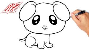 Small Picture How to draw a puppy dog Very simple Easy step by step drawing