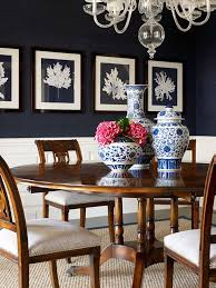 navy blue dining rooms. Navy Provides The Drama In This Classic And Beautiful Blue/white Dining Room By Designer Blue Rooms F