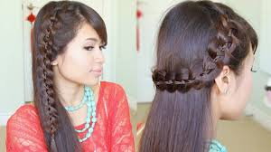Really Long Hair Hairstyles Unique 4 Strand Lace Braid Hairstyle For Long Hair Tutorial Youtube