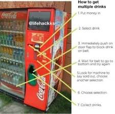 Life Hacks For Vending Machines Custom How To Get Multiple Drinks Drinks Diy Life Hacks Hacks Easy Diy Diy