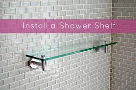 installing a shower shelf