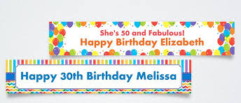 custom happy birthday banner custom birthday banners party banners party city