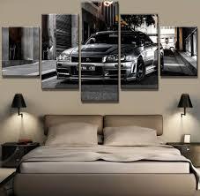 <b>5 Piece HD Print</b> Large Nissan Skyline Gtr Car Modern Decorative ...