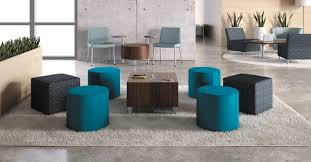 modern office lounge. office lounge area with modern circular chairs and coffee table s