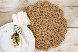 Free Crochet Placemat Patterns Awesome Jute Crochet Placemats Free Pattern Petals To Picots