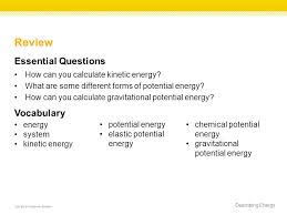 describing energy copyright mcgraw hill education review essential questions how can you calculate kinetic