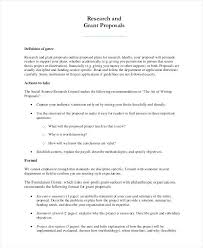 Grant Proposal Sample Research Academic Example Gulflifa Co