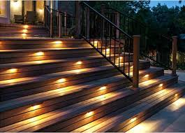 deck lighting. Under Rail Lighting Emitting A Downward Glow By Installing Light Deck Or Stair Railings. Also You Are Allowed To Add Dimmers Your I