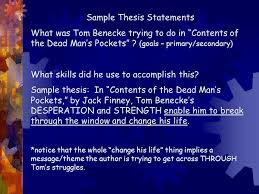 the most dangerous game rdquo essay ppt 3 sample thesis statements