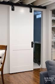 diy white cottage style sliding barn door barn style sliding doors