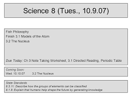 Science 8 (Mon., ) Test corrections – (1 point for every 3 that ...
