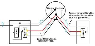 ceiling fan, 3 way light, single switch fan, existing rough in how to separate light and fan switches at Ceiling Fan Wiring Diagram Single Switch