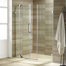 clear glass shower door vigo vg6042chcl48 48 frameless 3 8 clear glass shower door with