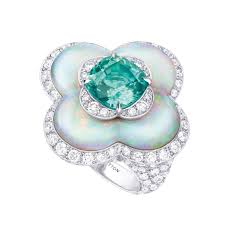 louis vuitton ring. louis vuitton blossom tourmaline and opal ring