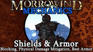 Shields Armor Morrowind Mechanics