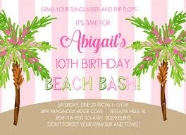 Beach Invitation 6135 Preppy Beach Bash Invitation