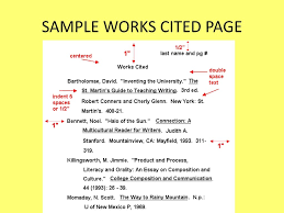 How To Do A Works Cited Page Ppt Download
